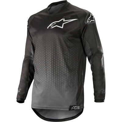 NEW Alpinestars 2019 MX Gear Racer Graphite Black Adult Motocross Jersey