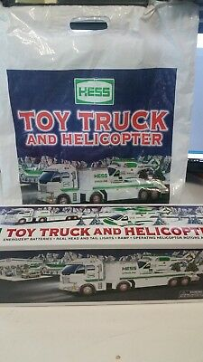 2006 HESS Toy Truck and Helicopter MIB + BAG collectible mint new in box