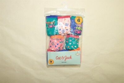 LOT OF 8 PAIR CAT & JACK Girl's Cotton Hipsters Panties Underwear - 6