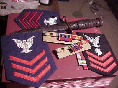 M1 Carbine  Bayonet Relic with ribbons and Rank