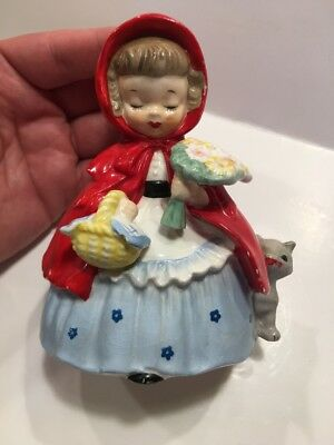 Vintage Napco 1956 Little Red Riding Hood Japan Figurine S1492A