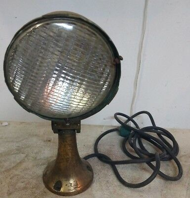 Vintage Military Brass Search Light Nautical Boat Ship Navy Light