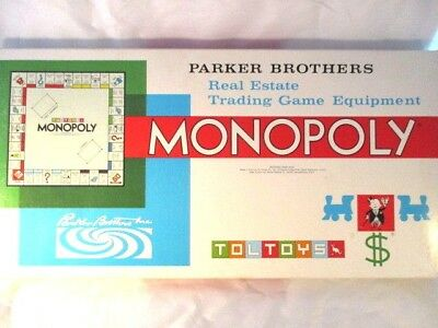Vintage 1970 Monopoly Parkers Brothers *TolToys* Australian Brand Complete.