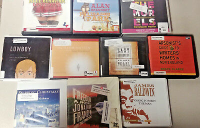 General Fiction Audio Books Lot of 10 on CD FREE SHIPPING Unabridged A-44
