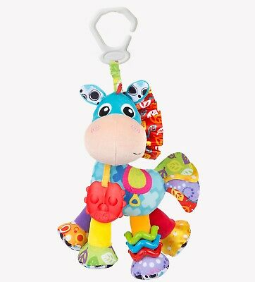 New Playgro Activity Friend Clip Clop Rattle Crinkle Click Clack Teether Toy 0m+