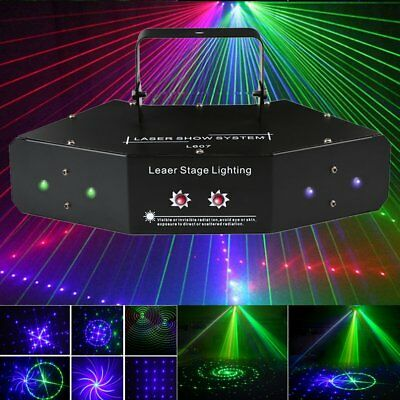 LED RGB Effect Stage Light Lighting Beam Laser DMX Disco DJ Party KTV Projector