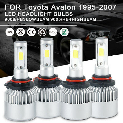 Car LED Headlight Bulbs Kit 9005 9006 High Low Beam For Toyota  Avalon 1995-2007