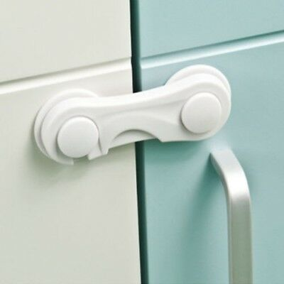 2PCS Child Baby Cupboard Cabinet Safety Locks Proofing Door Drawer Fridge Kids