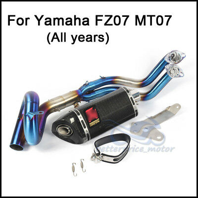 For Yamaha MT07 Exhaust System Set Connecting Link Pipe Exhaust Muffler Pipe