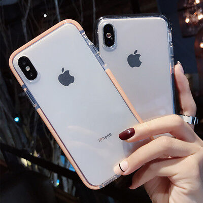 Luxury Silicone bumper TPU soft Clear case cover for iPhone X 8 Plus 7 Plus 6s