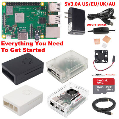 Raspberry Pi 3 Model B+ B Plus Starter Kit S3B01