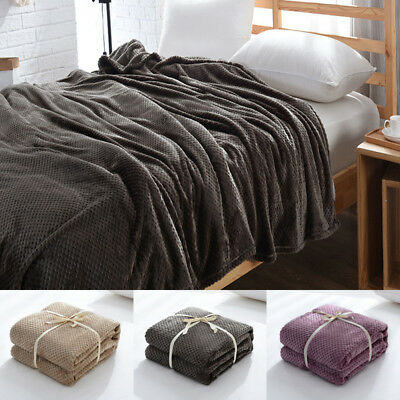 Winter Soft Warm Fleece Throw Blanket Carpet Sofa Bedroom Bedding Flannel Quilt