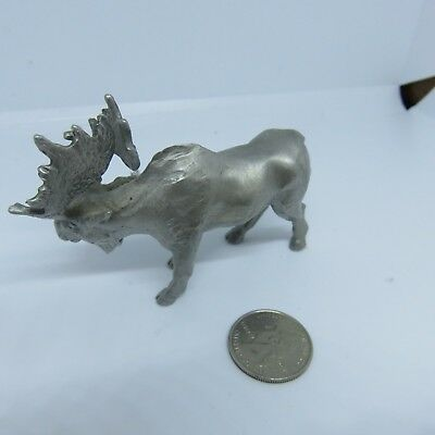 "Pewter Moose Figurine 2""tall and 3.5"" long."