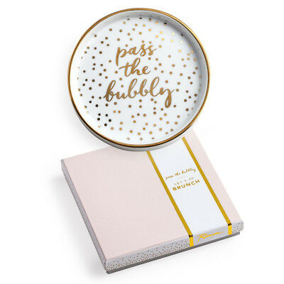 NEW Rosanna Pass The Bubbly Bottle Coaster 13.5cm