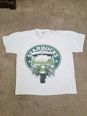 Vtg Starbucks Coffee T shirt Sz XL 90s Rare