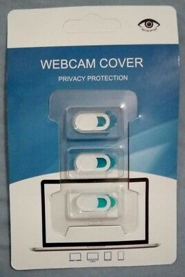 3x Webcam White Camera Cover Protect Privacy Mobile Phone Tablet Laptop K102