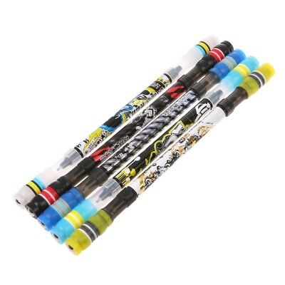 Non Slip Coated Spinning Ballpoint Pen Rolling Finger Playing Rotating Student