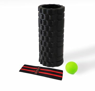 Recovery X Pack, Vibrating foam roller, massage ball, resistance bands