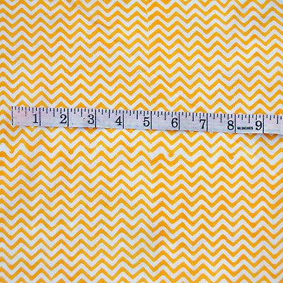 "10 Yard Hand Block Print Natural Handmade Cotton Sewing Fabric ""Home Decor """
