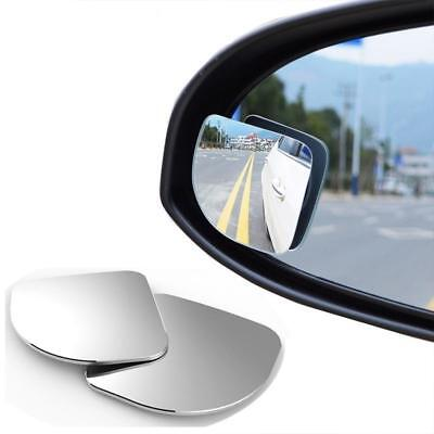 2 X Driver Side Wide Angle Round Convex Car Auto Rear View Mirror Blind Spot New