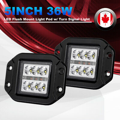 2x 4 inch 80W CREE LED Work Light Bar Flood SUV Truck Offroad Driving Lights 12V