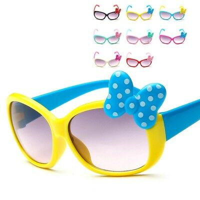 Anti-UV Sunglasses Cartoon 8-Color Goggle Glasses Bow Pop Kids Boys Baby Girls