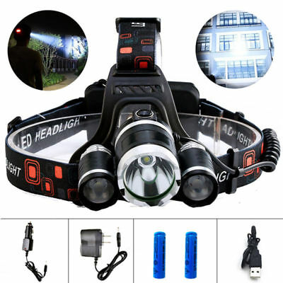13000LM Led Headlight Headlamp Head Torch 18650 Flashlight Camping Lamp Light