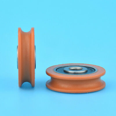 1pcs U Nylon plastic Embedded Groove Ball Bearings 6*29*8mm Guide Pulley