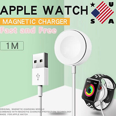 US Magnetic Charger Charging Pad Cable For Apple Watch iWatch 1/2/3 38mm&42mm