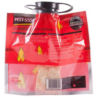 Pest Stop Fly Trap Bag, Indoor And Outdoor Hanging Insect Trap