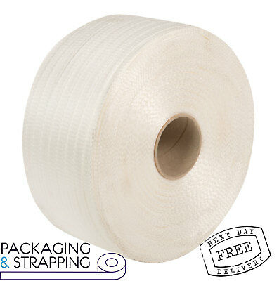 Corded Plastic Pallet Strapping - Woven Polyester Banding - 19mm X 800mtr