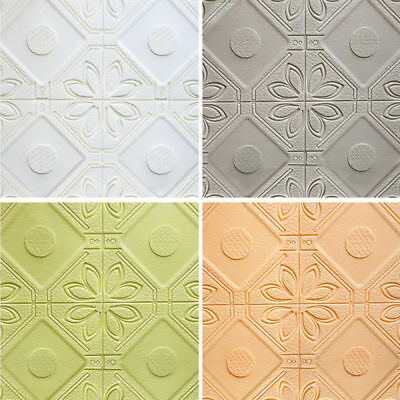 Self-adhesive Wall Sticker Panels 3D Stone Brick Foam Thick Wall Paper 58.5cm
