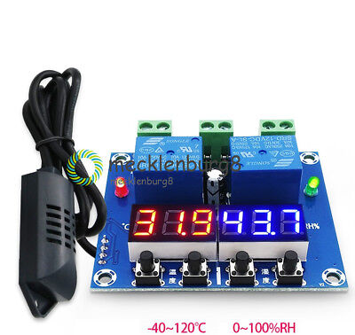 XH-M452 LED Digital Display Dual Output Thermostat Temperature Controller DC 12V