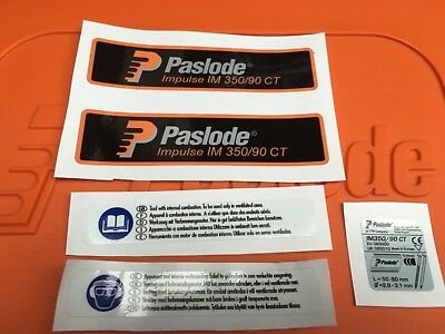 Paslode Label Sticker Decal Set Kit IM350 5 Sticker Set