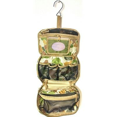 Tas Australian Military Toiletries Bag Auscam Hd 900 Denier - Hanger / Mirror