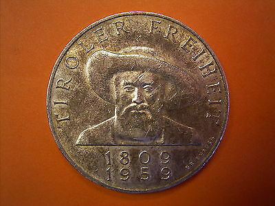 1959 Austrian Commemorative issue 50 Schilling Silver Coin - Liberation Of Tyrol