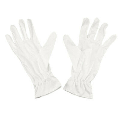 2X(White Mini faser Dust Proof Jewelry Silver Inspection Gloves H8T1)