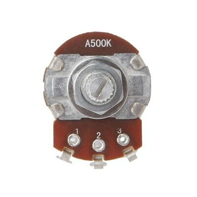 24mm A500K OHM Metal Audio POTS Potentiometer Base Replace for Electric Guitar