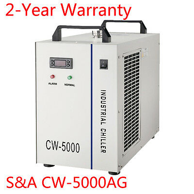 AC220V S&A CW-5000AG Industrial Water Chiller with 30W DC Pump, 50Hz