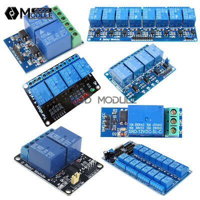 12V 1/2/4/8/16 Channel Relay Module with optocoupler for Arduino PIC AVR DSP ARM