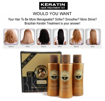 BRAZILIAN KERATIN  BLOW DRY STRAIGHTENING 3x 110ML U.K.