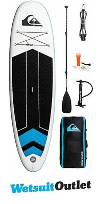 2018 Quiksilver ISUP 10'6 Inflatable Stand Up Paddle Board Blue Topaz Inc. Pump,