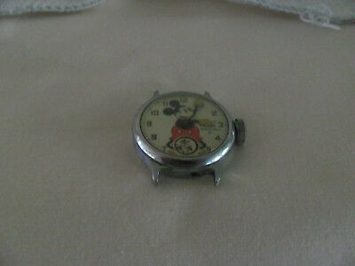 Vintage 1930's Mickey Mouse Ingersoll Watch NOT WORKING