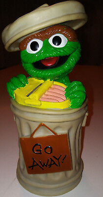 Seasame Street Oscar the Grouch Piggy Bank, used, in decent shape