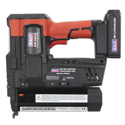 Cordless Nail/Staple Gun 18G 18V Lithium-ion - Sealey - CPNG18
