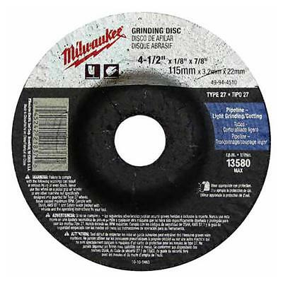 x 1//4 in x 5//8-11 in Milwaukee 49949025 9 in Durable Grinding Disc New