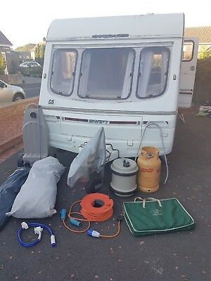Swift Challenger 2 berth caravan with awning 1994
