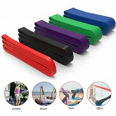 Resistance Exercise Heavy Duty Loop Bands Tube Home Gym Fitness Natural Latex