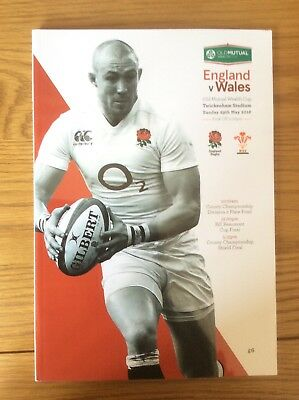 England v Wales Rugby Programme May 2016