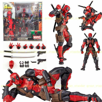 Marvel Legends X-men DEADPOOL Action Figur Revoltech Kaiyodo Verison Spielzeug #
